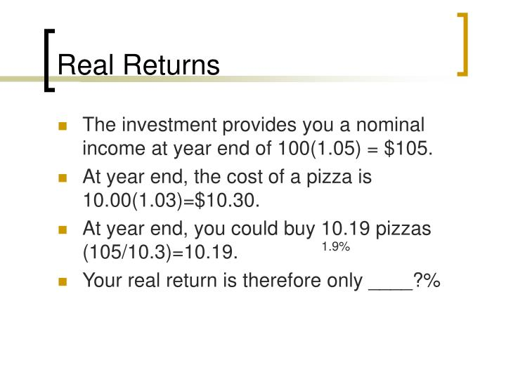 Real Returns