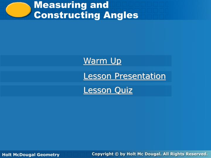 Measuring and