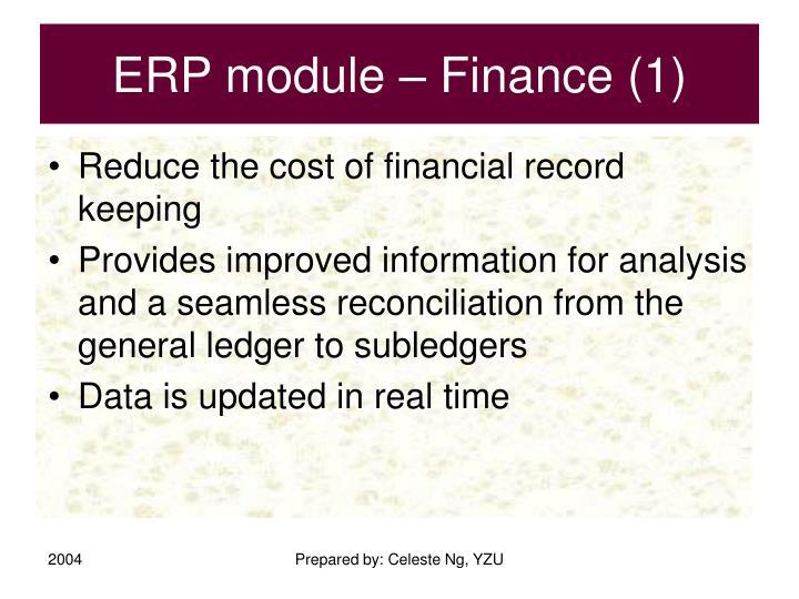 ERP module – Finance (1)