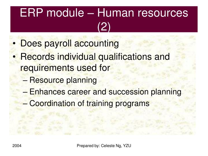 ERP module – Human resources (2)
