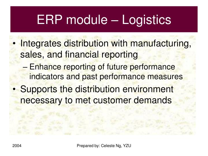 ERP module – Logistics