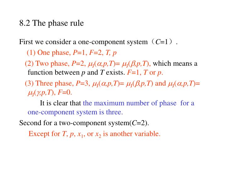 8.2 The phase rule