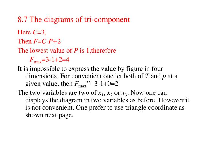 8.7 The diagrams of tri-component