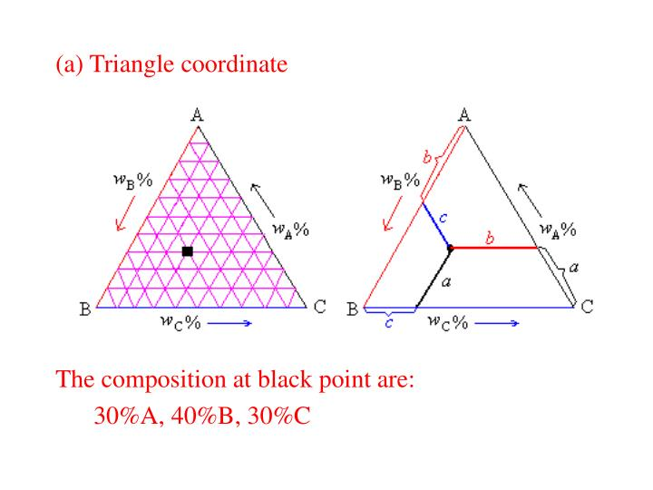 (a) Triangle coordinate