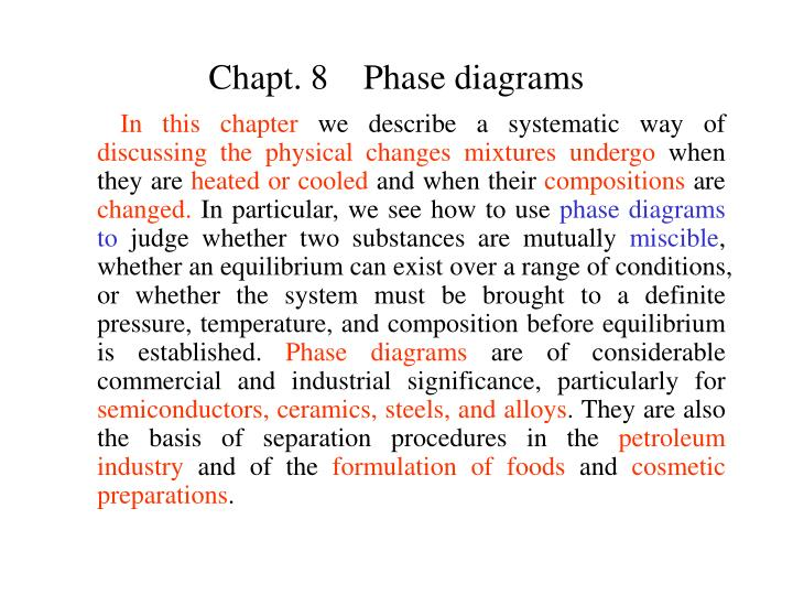 Chapt 8 phase diagrams