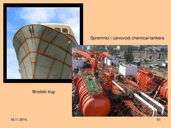Spremnici i cjevovodi chemical-tankera