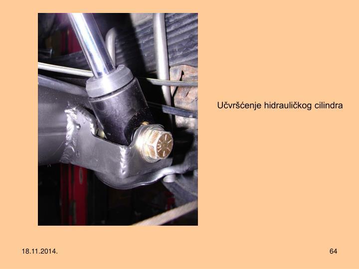 Učvršćenje hidrauličkog cilindra