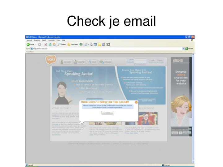 Check je email