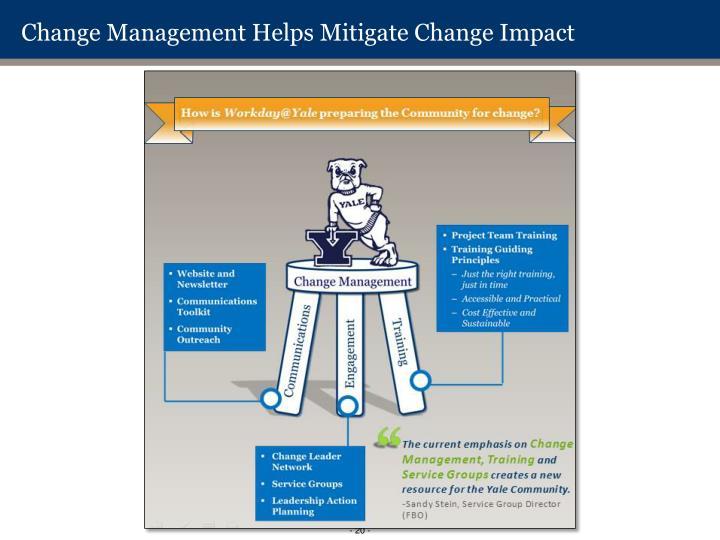 Change Management Helps Mitigate Change Impact