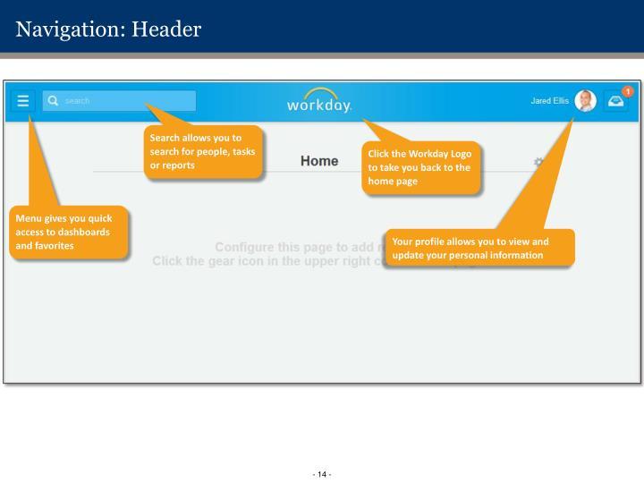 Navigation: Header