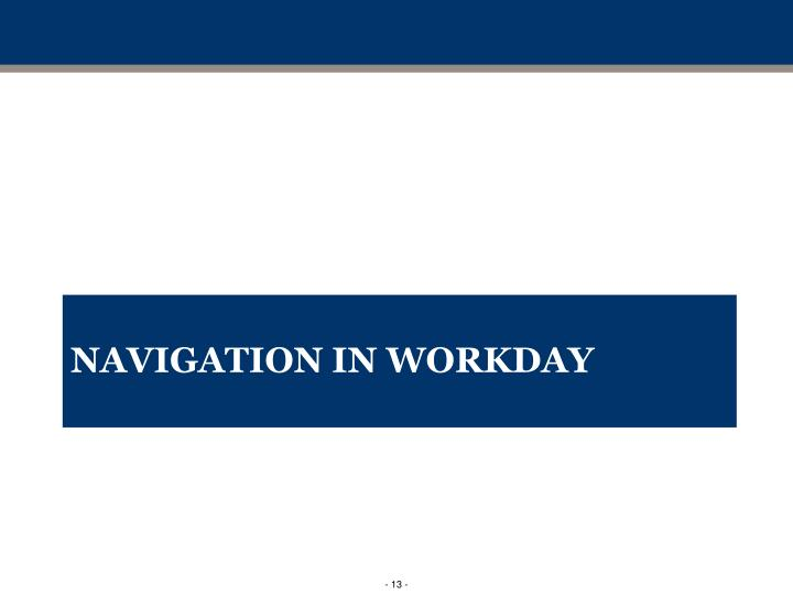 Navigation in Workday