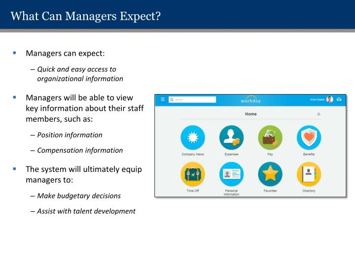 What Can Managers Expect?