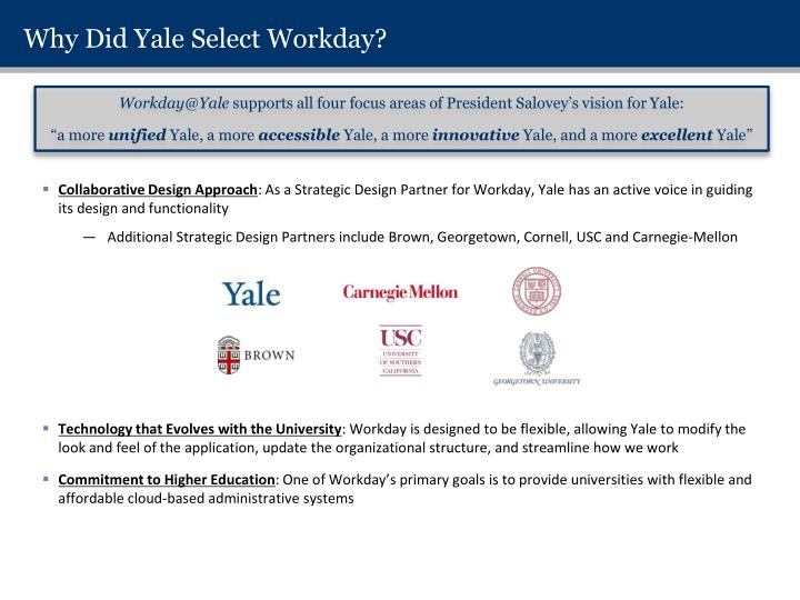 Why Did Yale Select Workday?