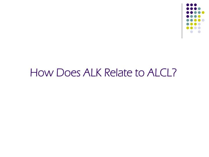How Does ALK Relate to ALCL?