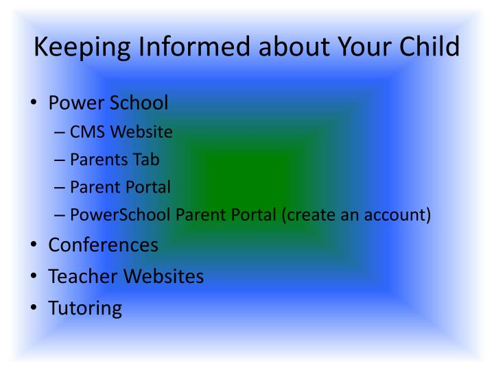 Keeping Informed about Your Child
