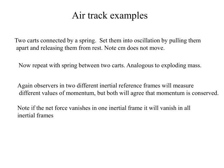 Air track examples