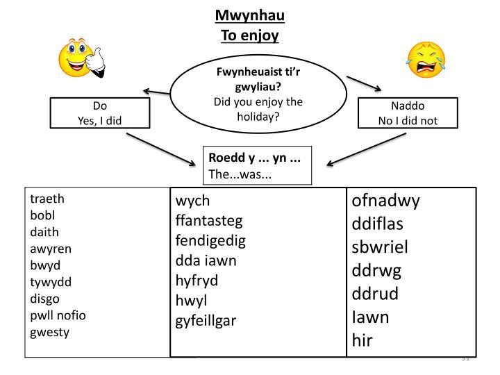 Mwynhau