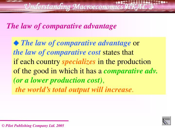 The law of comparative advantage