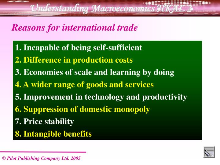 Reasons for international trade