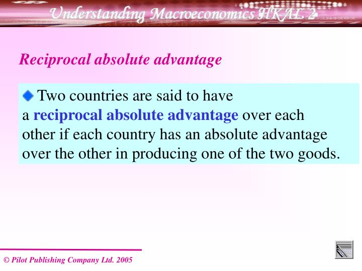 Reciprocal absolute advantage