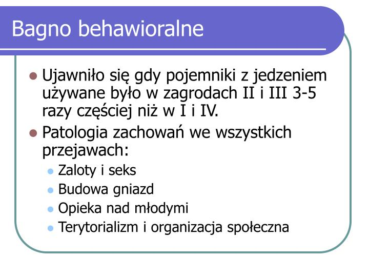 Bagno behawioralne