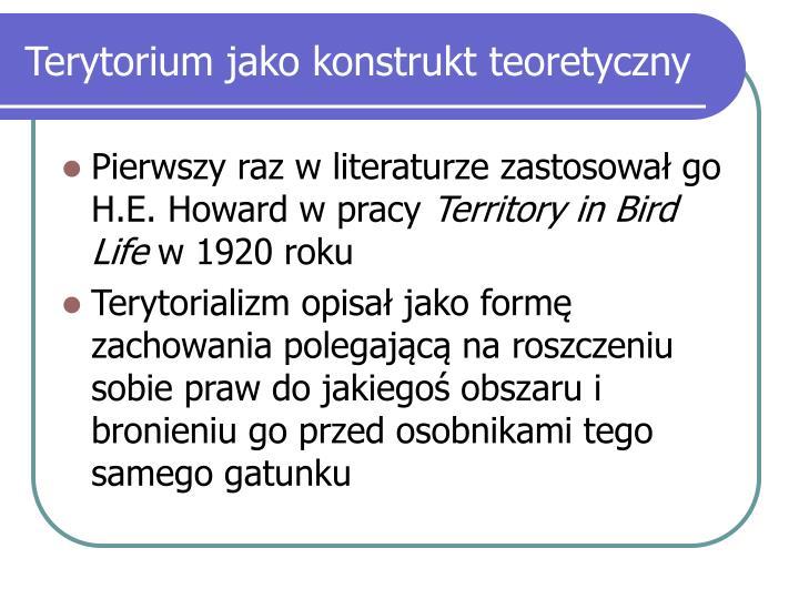 Terytorium jako konstrukt teoretyczny