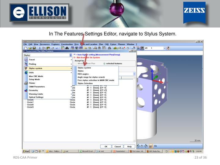 In The Features Settings Editor, navigate to Stylus System.