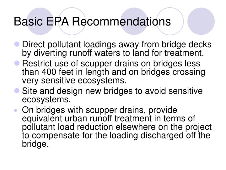 Basic EPA Recommendations