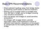 basic epa recommendations