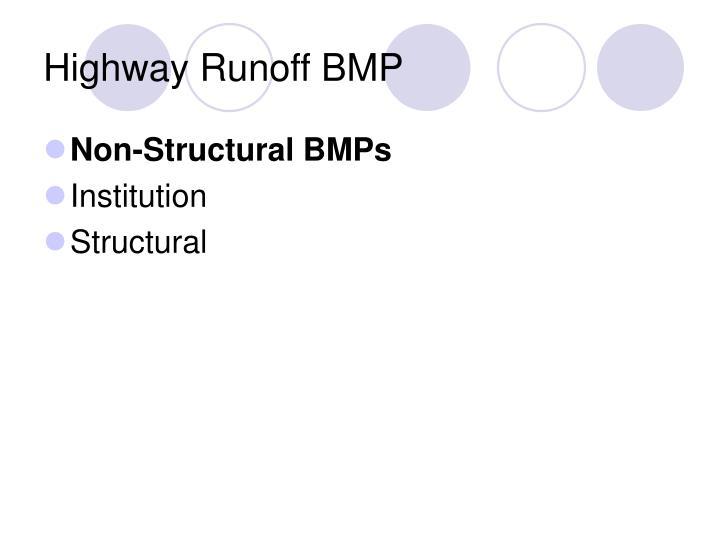 Highway Runoff BMP