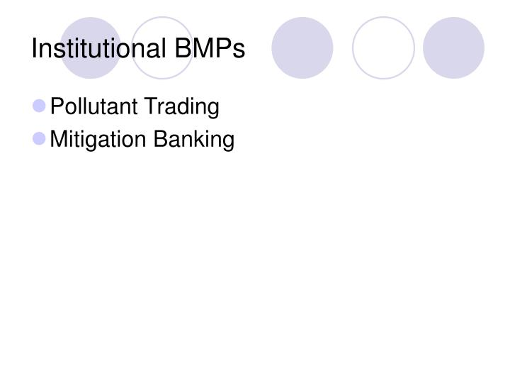 Institutional BMPs