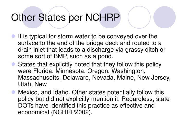 Other States per NCHRP