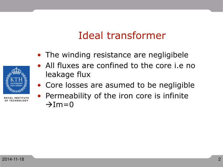 Ideal transformer
