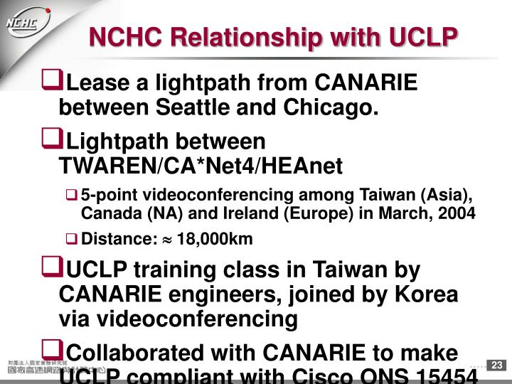 NCHC Relationship with UCLP
