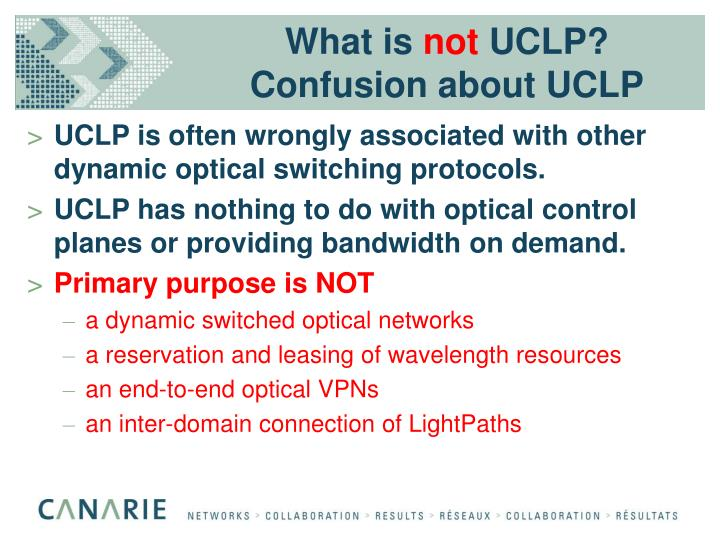 What is not uclp confusion about uclp