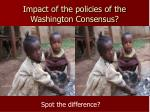 impact of the policies of the washington consensus