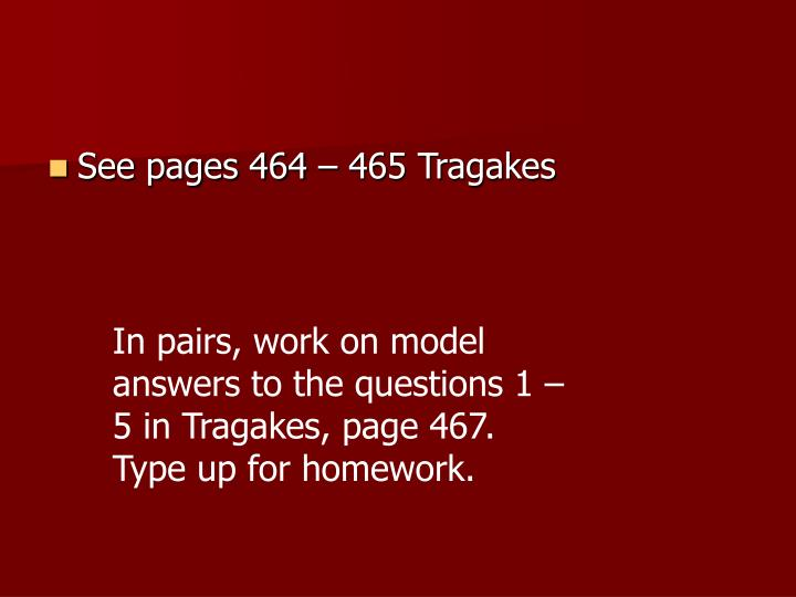 See pages 464 – 465 Tragakes