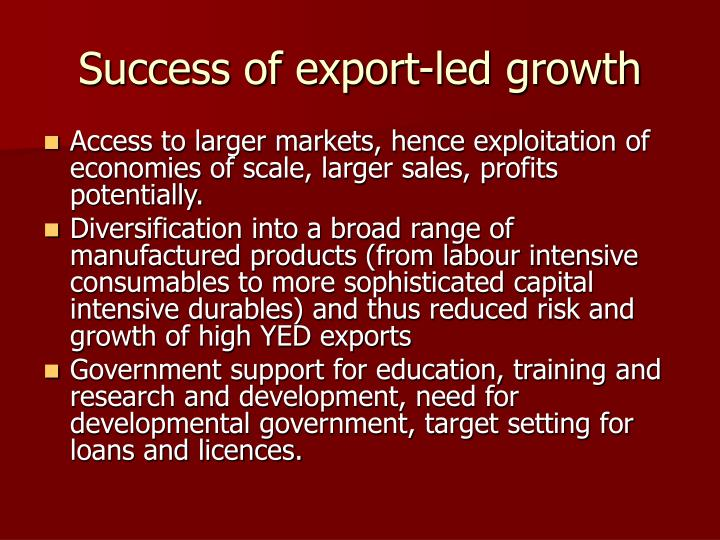 Success of export-led growth