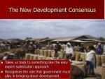 the new development consensus