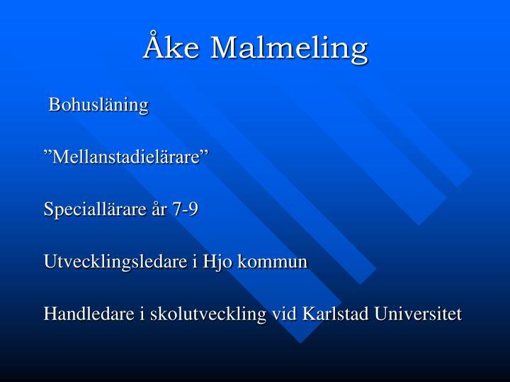 Åke Malmeling