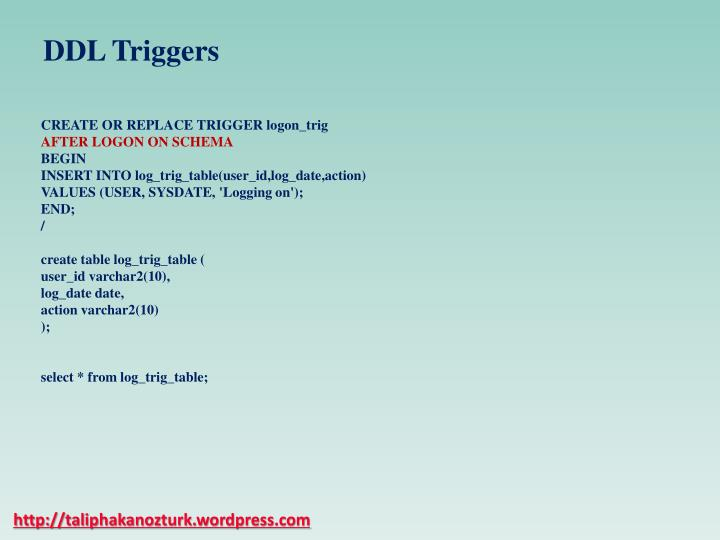 DDL Triggers