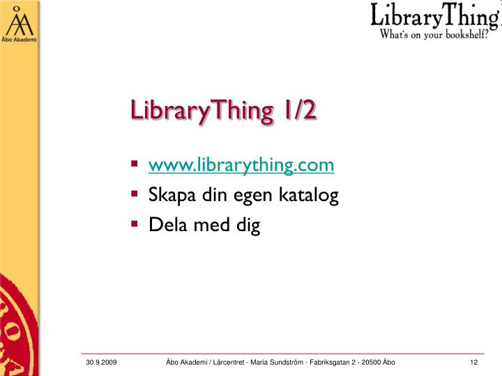 LibraryThing 1/2