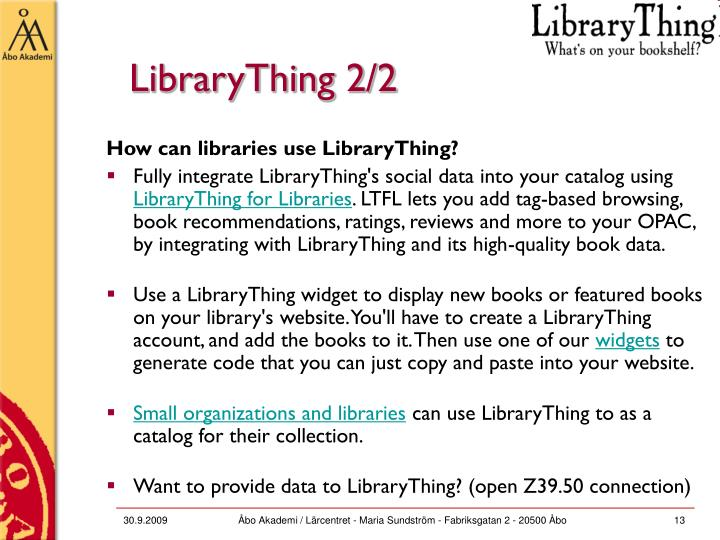 LibraryThing 2/2