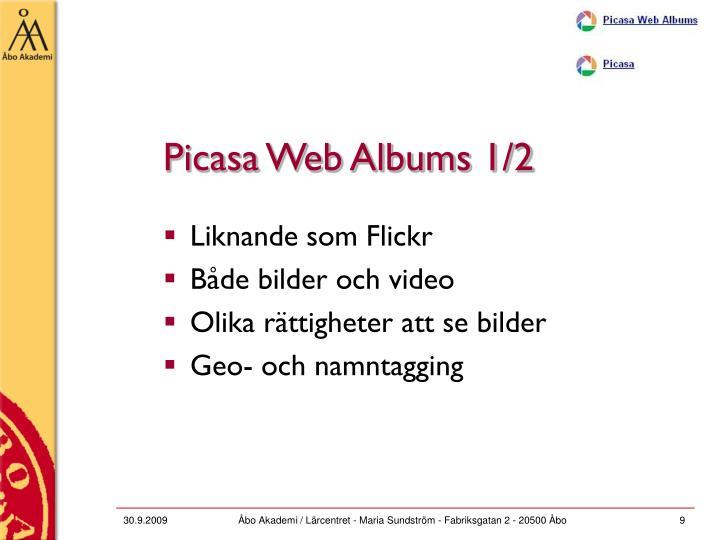 Picasa Web Albums 1/2