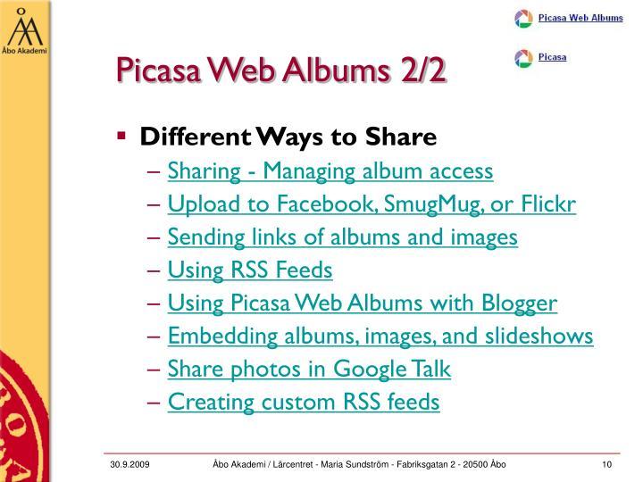 Picasa Web Albums 2/2