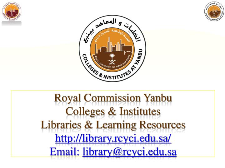 Royal Commission Yanbu