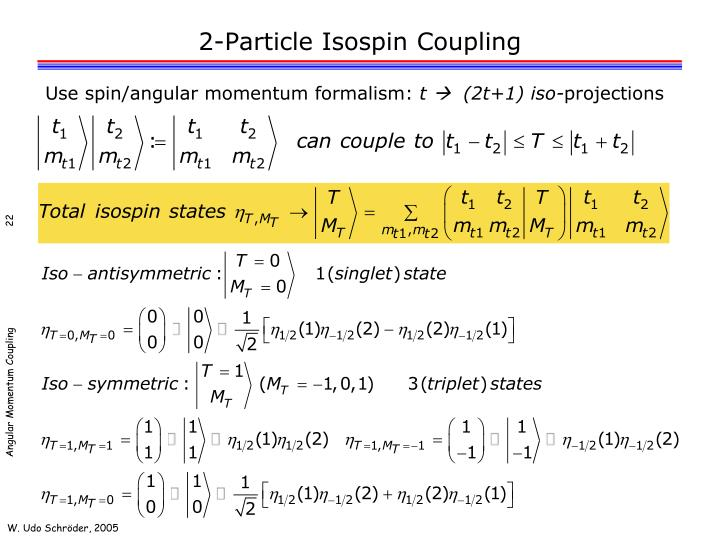 2-Particle Isospin Coupling