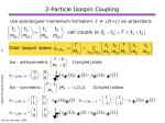 2 particle isospin coupling