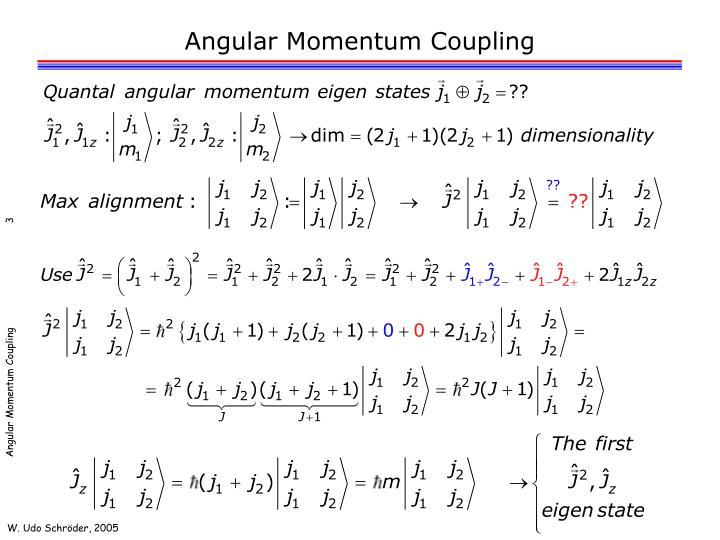 Angular Momentum Coupling