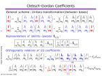 clebsch gordan coefficients